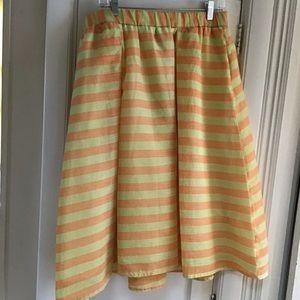 Yellow & Orange Striped Skirt